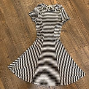 Monteau Striped Skater Dress